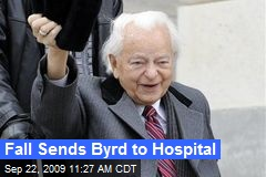 Fall Sends Byrd to Hospital