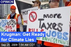 Krugman: Get Ready for Climate Lies