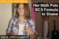 Her Math Puts BCS Formula to Shame