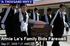 Annie Le's Family Bids Farewell