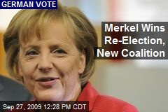 Merkel Wins Re-Election, New Coalition