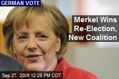 Merkel Wins Re-Election, New Coalition
