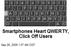 Smartphones Heart QWERTY, Click Off Users