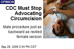 CDC Must Stop Advocating Circumcision