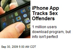 iPhone App Tracks Sex Offenders