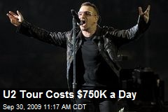 U2 Tour Costs $750K a Day