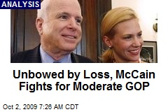 Unbowed by Loss, McCain Fights for Moderate GOP