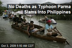 No Deaths as Typhoon Parma Slams Into Philippines