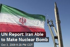 UN Report: Iran Able to Make Nuclear Bomb