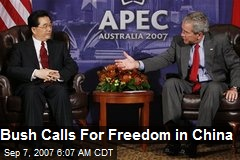 Bush Calls For Freedom in China