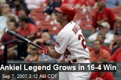 Ankiel Legend Grows in 16-4 Win