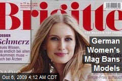 German Women's Mag Bans Models