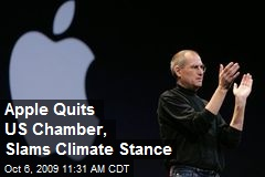 Apple Quits US Chamber, Slams Climate Stance