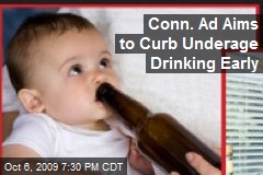 Conn. Ad Aims to Curb Underage Drinking Early