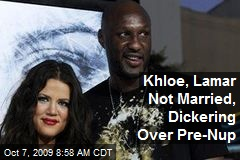 Khloe, Lamar Not Married, Dickering Over Pre-Nup