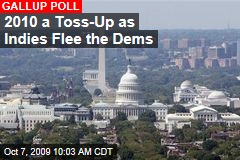 2010 a Toss-Up as Indies Flee the Dems