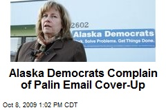 Alaska Democrats Complain of Palin Email Cover-Up