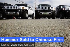 Hummer Sold to Chinese Firm