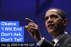Obama: 'I Will End Don't Ask, Don't Tell'