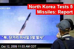 North Korea Tests 5 Missiles: Report