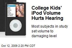 College Kids' iPod Volume Hurts Hearing