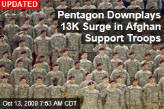 Pentagon Downplays 13K Surge in Afghan Support Troops
