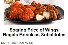 Soaring Price of Wings Begets Boneless Substitutes