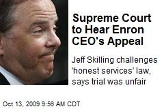 Supreme Court to Hear Enron CEO's Appeal