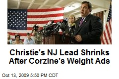 Christie's NJ Lead Shrinks After Corzine's Weight Ads