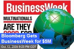 Bloomberg Gets BusinessWeek for $5M