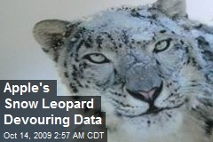 Apple's Snow Leopard Devouring Data