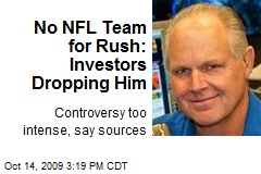 No NFL Team for Rush: Investors Dropping Him