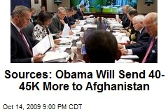 Sources: Obama Will Send 40-45K More to Afghanistan