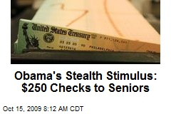 Obama's Stealth Stimulus: $250 Checks to Seniors
