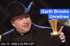 Garth Brooks Unretires
