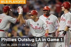 Phillies Outslug LA in Game 1