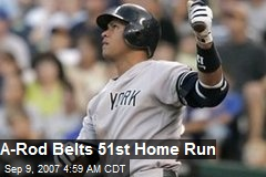 A-Rod Belts 51st Home Run