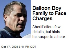 Balloon Boy Family to Face Charges