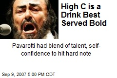 High C is a Drink Best Served Bold