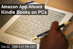 Amazon App Allows Kindle Books on PCs