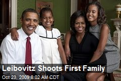 Leibovitz Shoots First Family