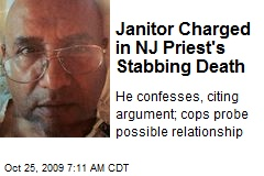 Janitor Charged in NJ Priest's Stabbing Death