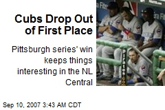 Cubs Drop Out of First Place
