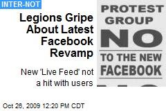 Legions Gripe About Latest Facebook Revamp
