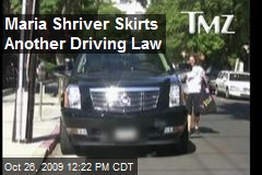 Maria Shriver Skirts Another Driving Law