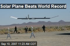 Solar Plane Beats World Record