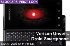 Verizon Unveils Droid Smartphone