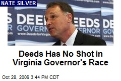 Deeds Has No Shot in Virginia Governor's Race