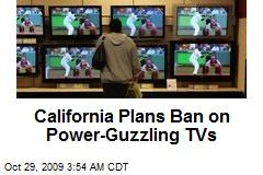 California Plans Ban on Power-Guzzling TVs