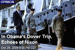 In Obama's Dover Trip, Echoes of Nixon